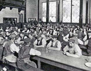 Speisesaal der Schultheiss-Brauerei um 1910.