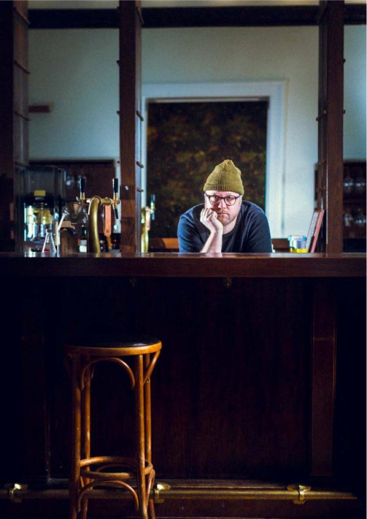 Max Strohe in seinem Restaurant